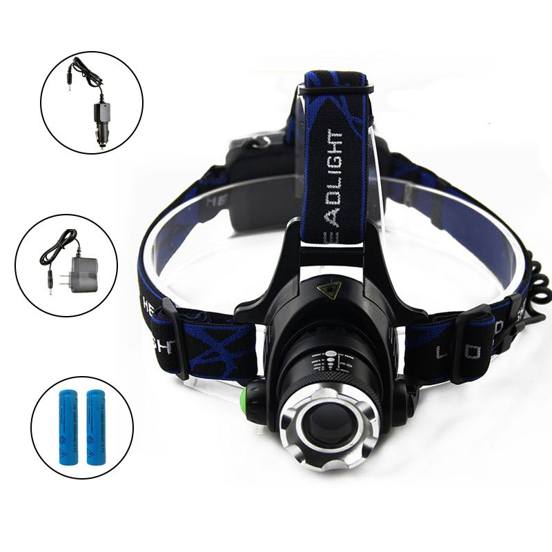 ZK40 3800LM Led-scheinwerfer Cree XM-L T6 Zoomable Scheinwerfer Fokus wiederaufladbare Scheinwerfer Scheinwerfer Lampe Wasserdicht Stirnlampe
