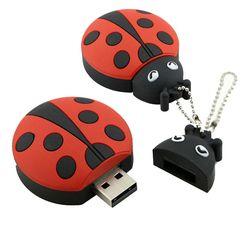 USB Flash Drive 8G Cute Ladybug USB Pen Drive 32 GB Flashdisk 16 GB USB Memoria Tongkat Beetle Flash memori Stik Berkendara