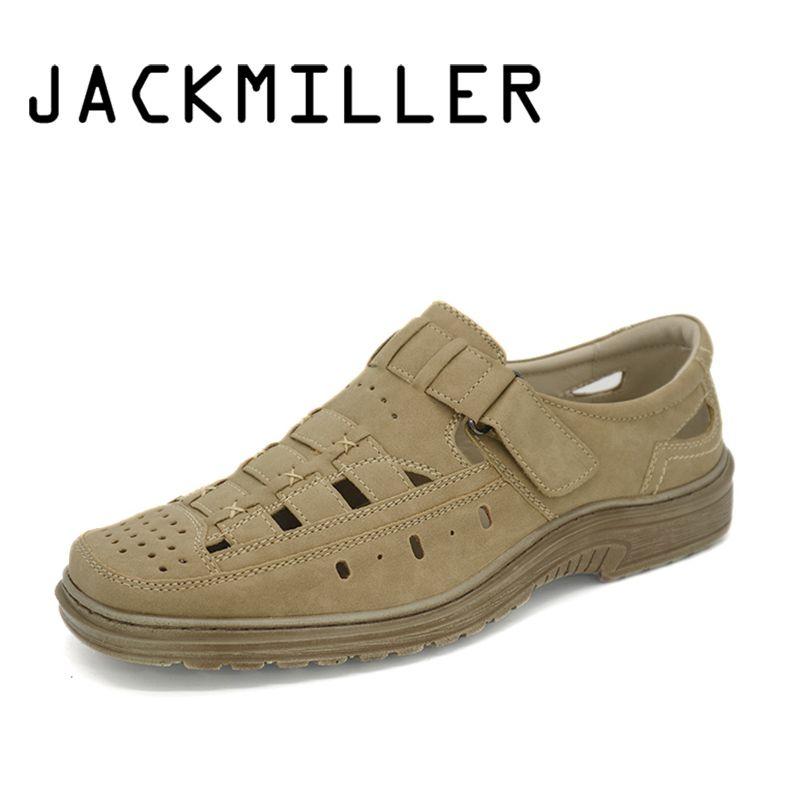 Jackmiller Summer Men Sandal Fashion Shoe Light Beach Mens Shoes lightweight Breathable Flats Mens Sandals Summer