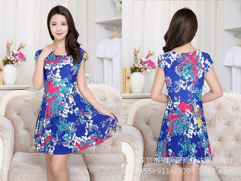 1-28 2018 new arrive women Polyester Casual A-Line Short sleeve Above Knee, Mini O-Neck Summer Maueken dress