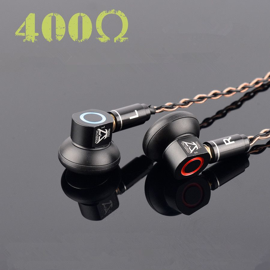 2018 New TONEKING TO400s In Ear Earbuds Graphene Dynamic High Impedance 400ohm Flat Head Plug Earburd TONEKING Alloy Tune Earbud