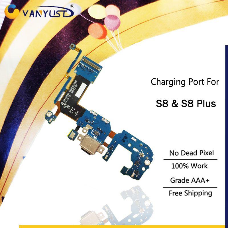 Marke Neue Original Lade Port-anschluss Flex Kabel Für Samsung galaxy S8 & S8 Plus G950U G955U G950F G955F USB ladegerät Flex