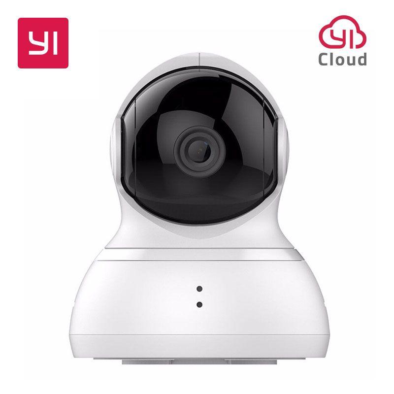 YI Dôme Caméra Pan/Tilt/Zoom Sans Fil Système de Surveillance de Sécurité IP HD 720 p Vision Nocturne (NOUS /EU Version) YI Nuage Disponibles