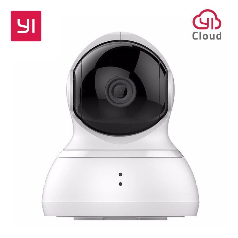 YI <font><b>Dome</b></font> Camera Pan/Tilt/Zoom Wireless IP Security Surveillance System HD 720p Night Vision (US / EU Version) YI Cloud Available