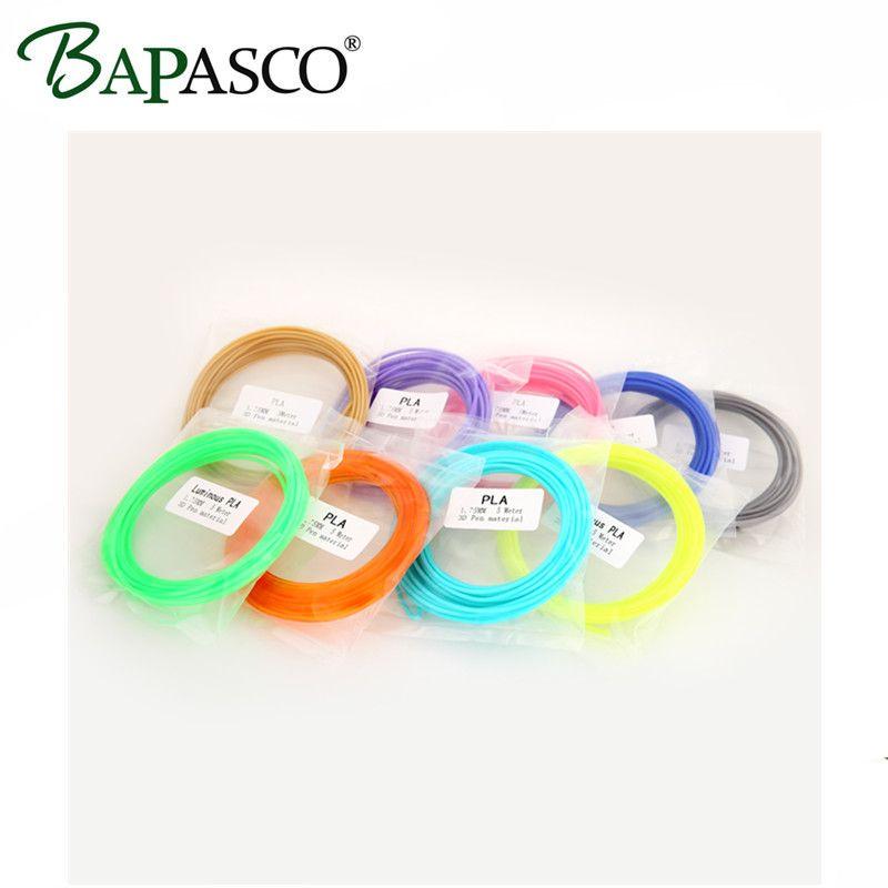 20 couleur ou 15 couleur ou 10 couleur/set 5 Mètres/Couleur 3D Stylo Filament PLA 1.75mm En Plastique En Caoutchouc Matériel D'impression Pour Imprimante 3D Stylo