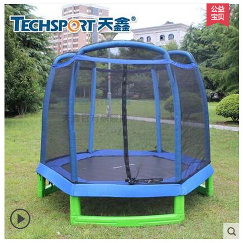 High quality 7 FEET Trampoline with SafetyNet Fits and hexagon type,CE,EN71,EN3219 approval
