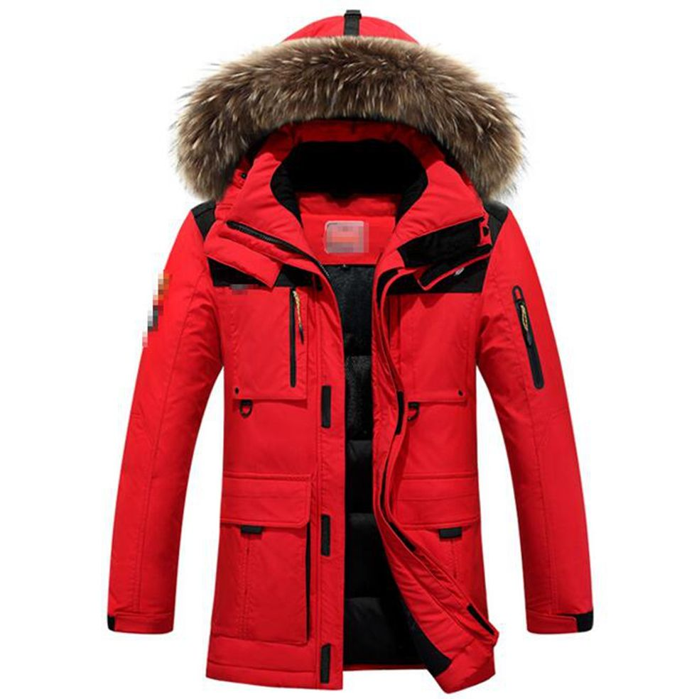 Man han edition more new fashion personality to keep warm in winter long hooded cotton-padded jacket coat 288 / L-3XL