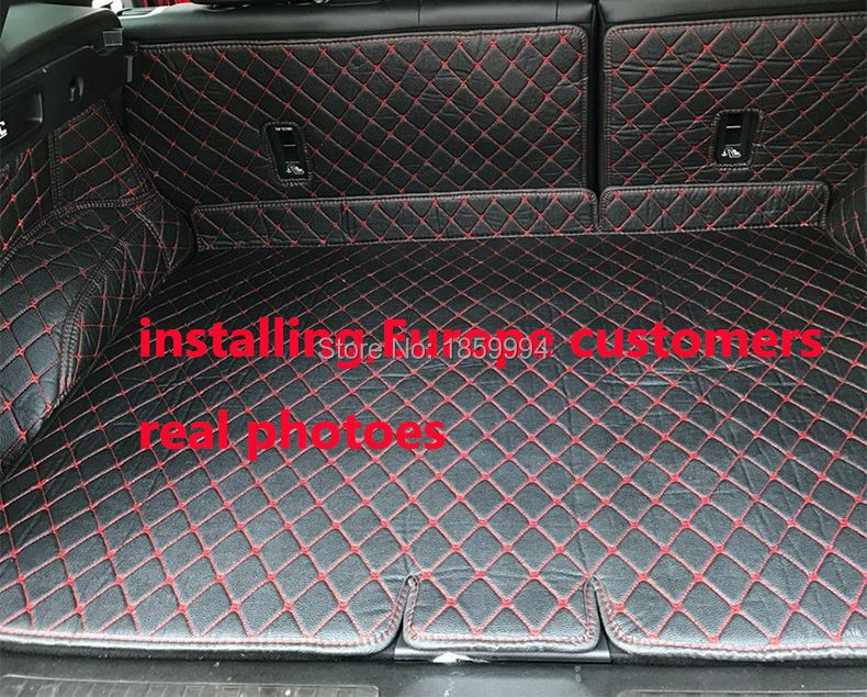 fit for 2016 2017 Renault Kadjar rear tail car trunk mat durable boot carpets