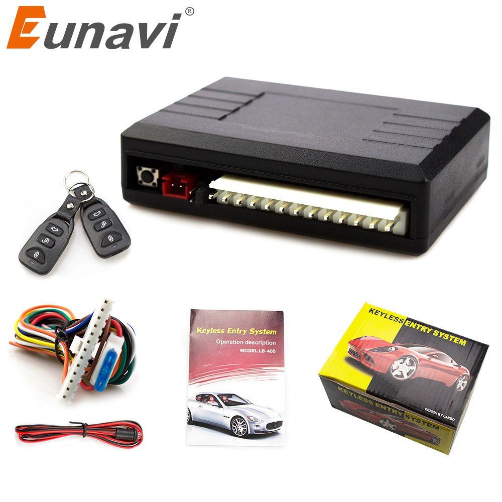 2017 Top Fashion Eunavi Universal Car Remote Central Kit Door Lock Vehicle Keyless Entry System Hot Worldwide
