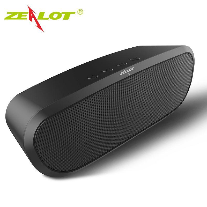 Original ZELOTE S9 Portátil Inalámbrico Bluetooth 4.0 Altavoz TF de la Ayuda AUX tarjeta U Disco FM Radio Altavoz de la Música de Fiesta Al Aire Libre caja