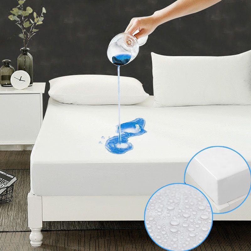 Größe 190X90 cm matelas Günstigste Glatte Wasserdichte Matratzenschoner Abdeckung Für Bettnässen atmungs Hypoallergen anti-milben