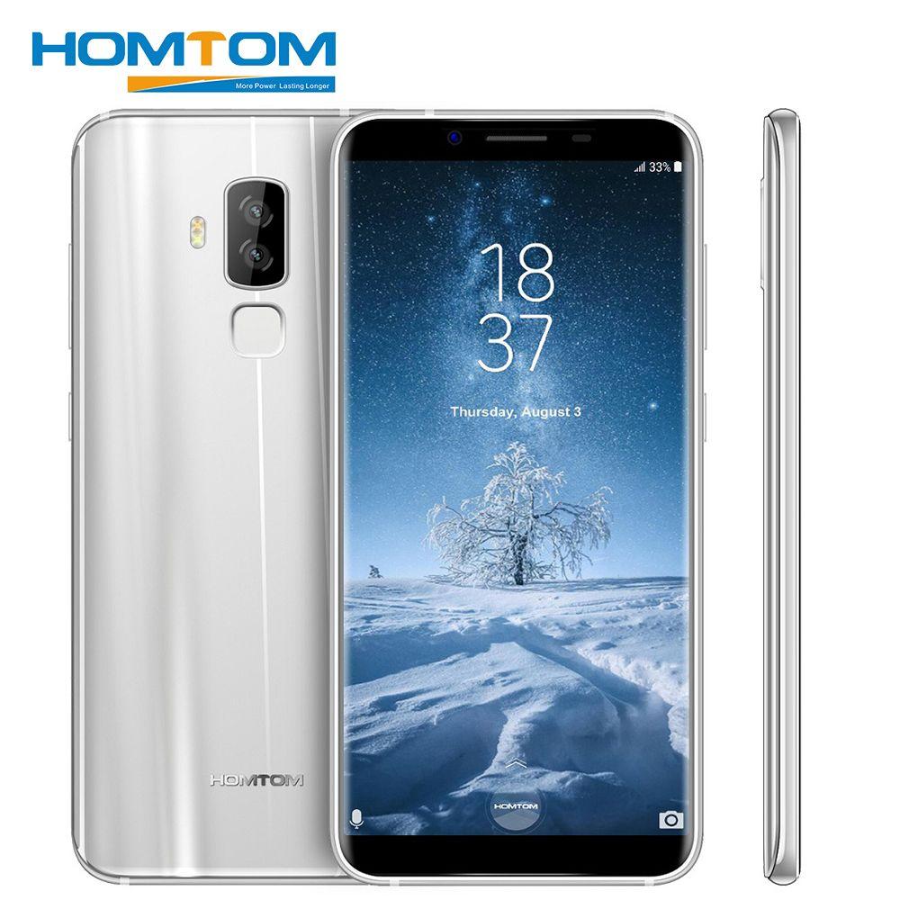 HOMTOM S8 5,7 zoll HD + 18:9 Aspekt Verhältnis Handy MTK6750T Octa Core 4g RAM 64g ROM 3400 mah 16MP + 5MP Fingerprint Smartphone