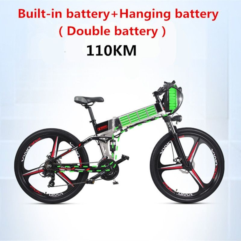Folding electric mountain biking bicycle lithium battery powered Mini stealth battery for adult step car battery car