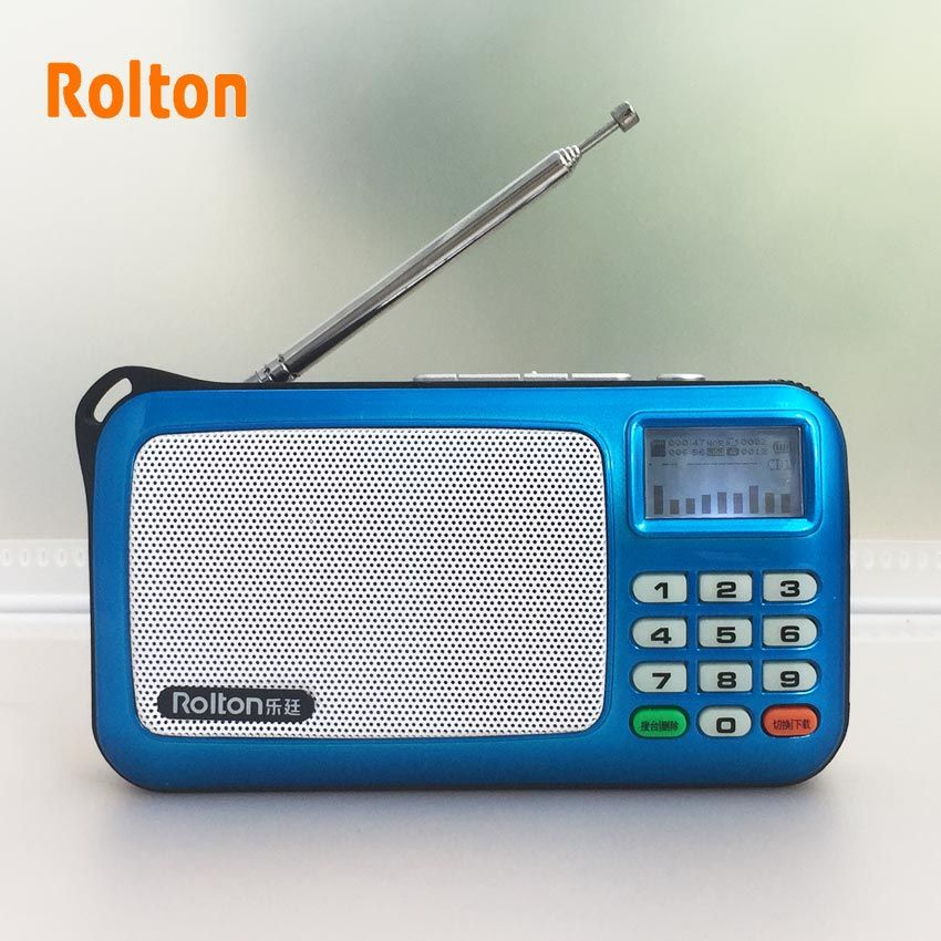 Rolton W505 Portable Radio LCD affichage matriciel montre les paroles Support USB et carte Mini haut-parleur Claus baladeur haut-parleur Lithi