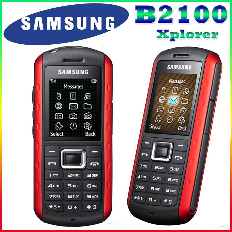 B2100 Original Unlocked Samsung B2100 Xplorer 1000mAh 1.3MP 1.77 Inches 3G Waterproof Refurbished Cellphone Free Shipping