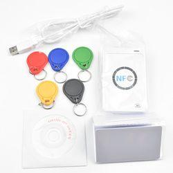 USB ACR122U NFC RFID Smart Card Reader Writer  + 5 pcs UID Cards +5pcs UID Tags+ SDK + M-ifare Copy Clone Software