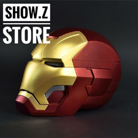 [Remote Metal Version] CATTOYS 1/1 Colorized All Metal Made Iron Man MK42 Helmet CATTOYS MK42 Mk43 Prop Wearable