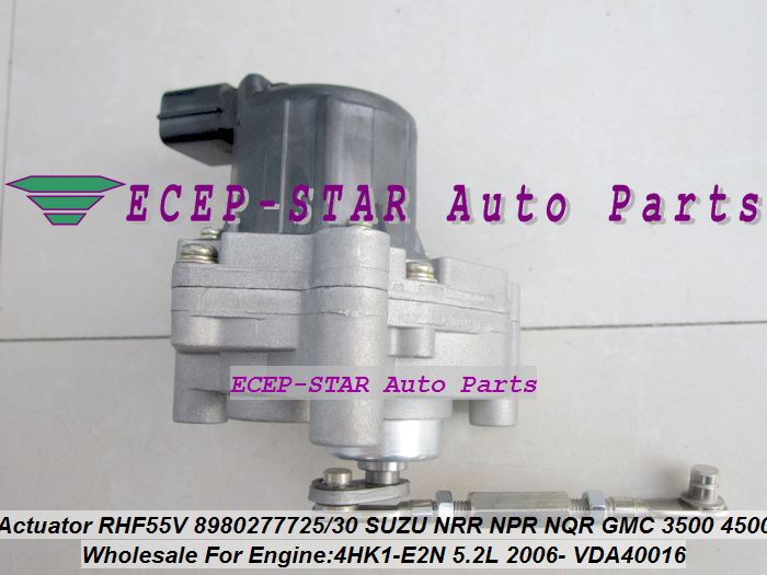 Turbo Solenoid Actuator RHF55V 8980277725 898027-7725 8980277731 VDA40016 For ISUZU NRR 75L For GMC 3500 4500 W- 5.2L 4HK1-E2N