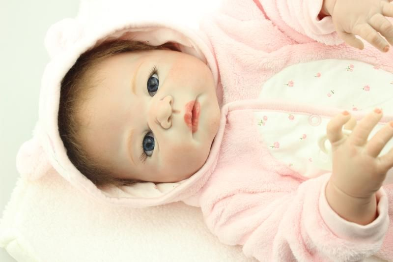 Full silicone vinyl reborn baby doll toys, play house reborn girl boy babies kids child brithday Christmas gift girls brinquedos