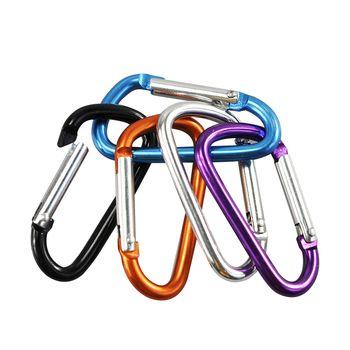 10 Stücke Outdoor-sportarten Multi Farben Aluminiumlegierung Sicherheitsschließe Keychain Kletter Taste Karabiner Camping Wandern Haken