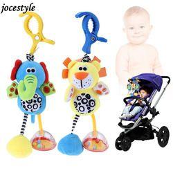 Anak-anak Bayi Mainan Kerincingan Mainan Kapas Kereta Dorong Bayi Menggantung Lembut Mewah Mainan Hewan Klip Bayi Dipan Tempat Tidur Gantung Lonceng Mainan untuk Bayi