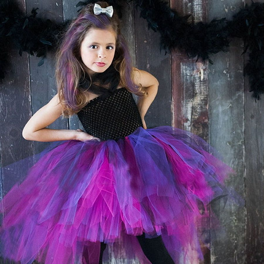 Sauvage Reine Enfants Fille Tutu Robe Halloween Filles Robes Cosplay Costume Petite Sorcière Vampire Pirate Tutu Robe TS088