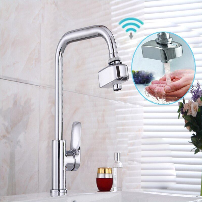 Automatic Infrared Sensor Faucet Kitchen Basin Accessories Saving Water Induction Nozzle Filter Adapter Hands Free Battery Power