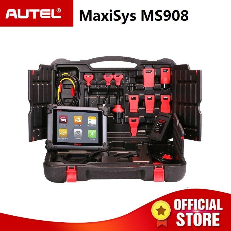 Autel MaxiSys MS908 OBD2 Automotive Scanner ECU Tester Verbinden J2534 als Maxisys PRO MS908P OBDII Auto Diagnose Programmierung WERKZEUG
