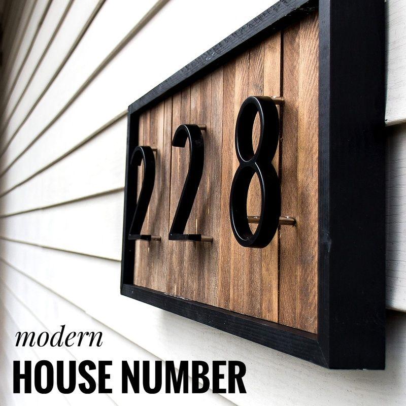 127mm grand numéro de maison moderne numéro d'adresse de porte chiffres en alliage de Zinc noir maison porte adresse signe #0-9