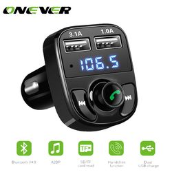 1 Pcs Bluetooth Car Kit FM Transmitter MP3 Player Dengan LED Ganda USB 4.1A Cepat Charger Tegangan Display Micro SD TF Bermain Musik