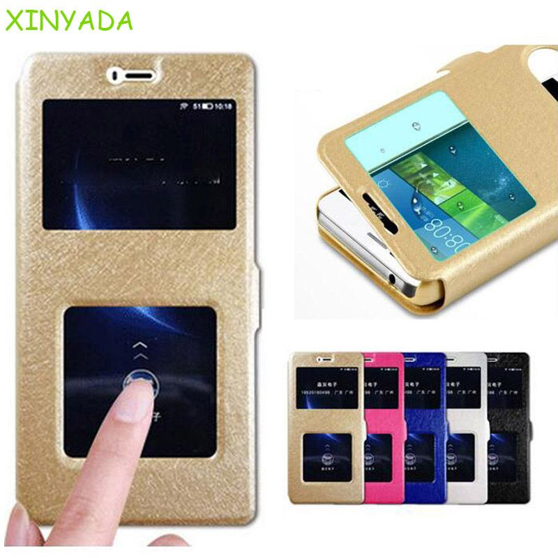 Xinyada View Window Flip Wallet Leather Case For Xiaomi 6 M6 Mi6 Mi 6 Full Cover Protection Coque Shell Fundas