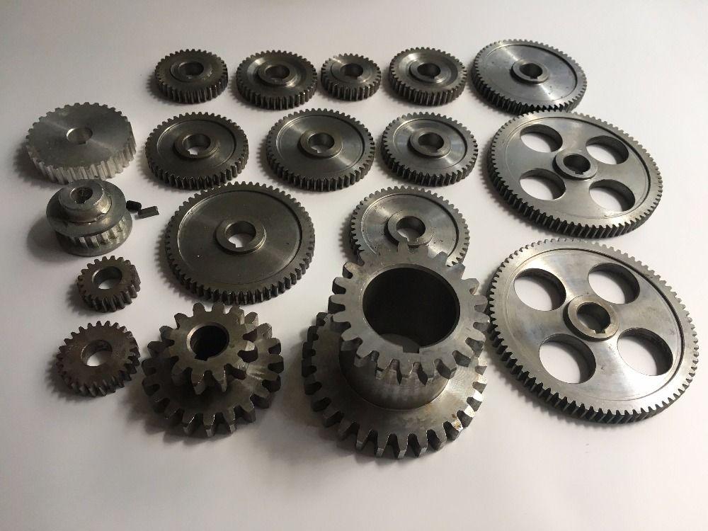 Freeshipping 18 teile/satz mini drehmaschine getriebe, metall Schneidemaschine getriebe, drehmaschine getriebe