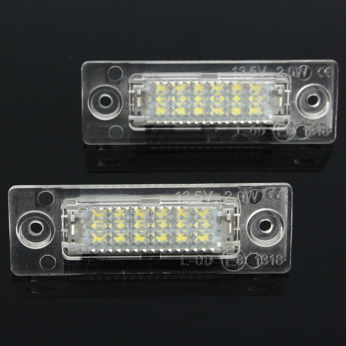 2 PCS Rear Bit Decode LED Number License Plate Light For Volkswagen/Skoda Superb