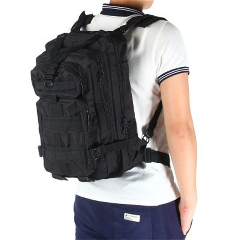 3P Military Bag Army Tactical Outdoor Camping Men's Military Tactical <font><b>Backpack</b></font> Oxford for Cycling Hiking Sports Climbing Bag 25L