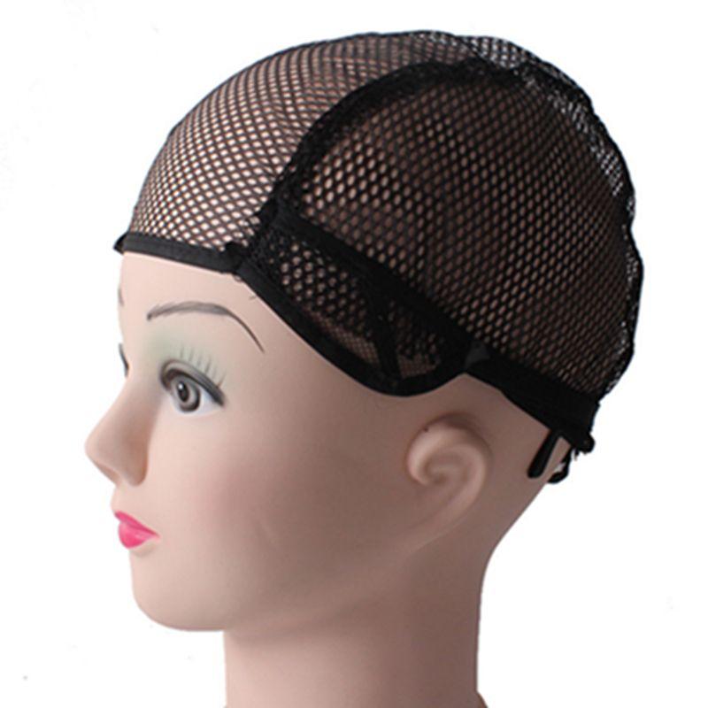 NEW Popular Glueless Full Lace Wig Cap 10 Pcs Lot Black Color Wig Net Cap Weaving Caps Wig Caps For Making Wigs Adjustable