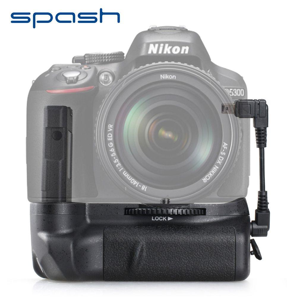 Poignée de batterie verticale spash pour Nikon D5300 D5200 D5100 DSLR caméras multi-puissance support de batterie fonctionne avec EN-EL14