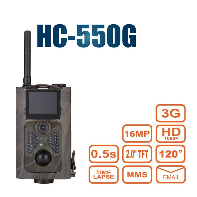 Night Vision Game Trail Hunting Camera Wild Trap Infrared 120 Degrees HC550G Hunter Camcorder Forest Wildlife Camera Gsm Mms