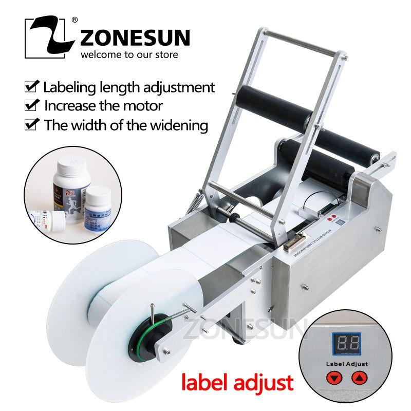 ZONESUN FREE SHIPPING NEW LT-50 Round Plastic Bottle Label Machine Round Bottle Labeling Machine Round Bottle Sticker Machine