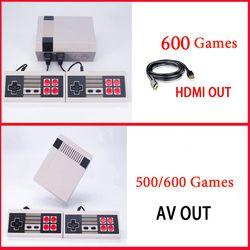 6 Styles Mini Support de La Console TV De Poche Joueur de Jeu Vidéo Console de Jeu À TV Avec 620/600/500 construit dans Les Jeux