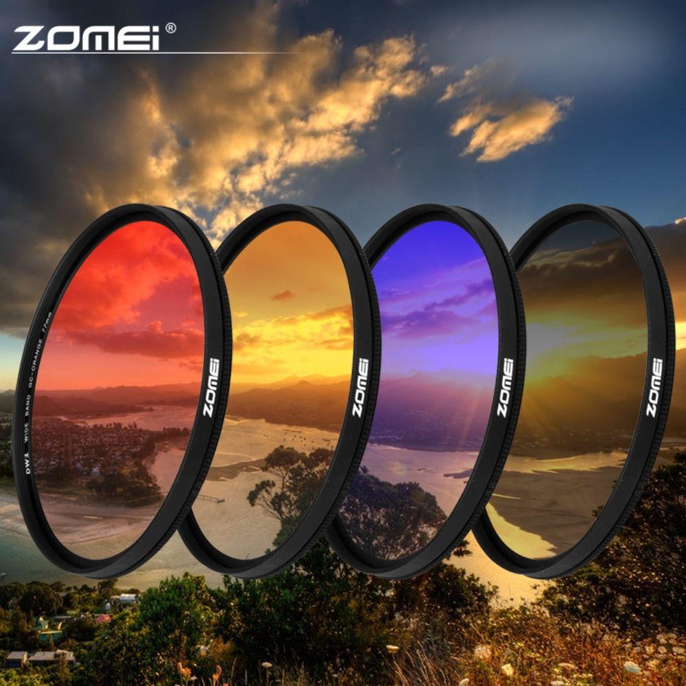 ZOMEI 40,5/49/52/55/58/67/72/77/82mm Ultra dünne rahmen Absolvierte Grau (ND) blau Orange Rot filter kit für SLR DSLR kamera