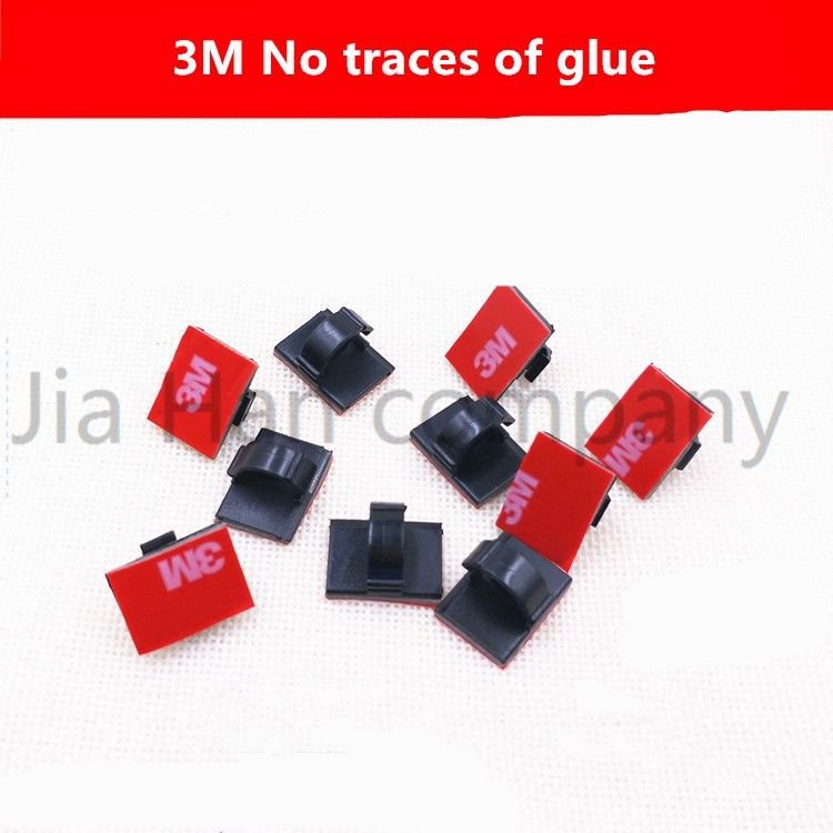 30 pieces Car cable clamp Car Drive Recorder Wiring Wire Clips inside car cable clamp 3M No trace glue of Wire clip