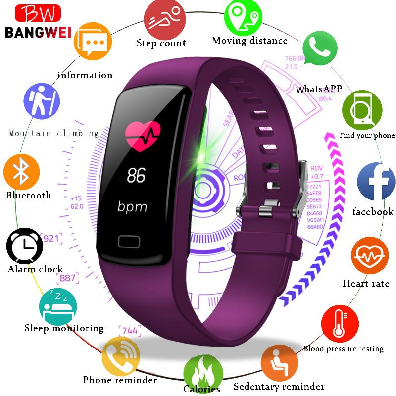 LIGE Sport Armband Frauen Männer Herz Rate Blutdruck Armband Kalorien Schrittzähler fitness smart Uhr für Android IOS Telefon