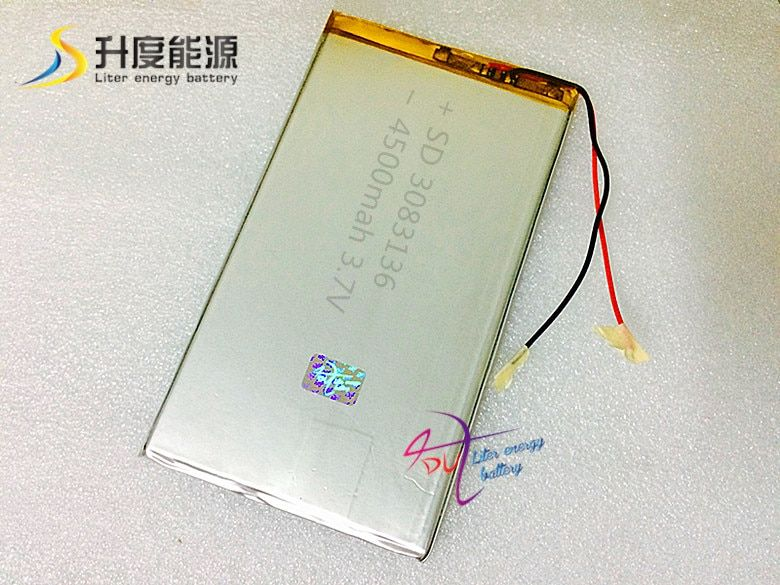 3083136 3.7 V 4500 MAH 3083138 3084134 tablette batterie li-ion batterie rechargeable pour dispositif médical ou POS