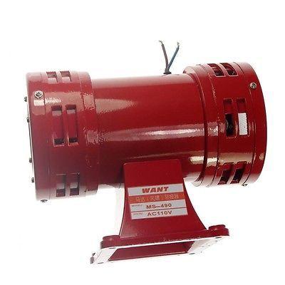 MS-490 AC 110 V/220 V 150db Motor Angetrieben Air Raid Siren Metall Horn Doppel Industrie Boot Alarm