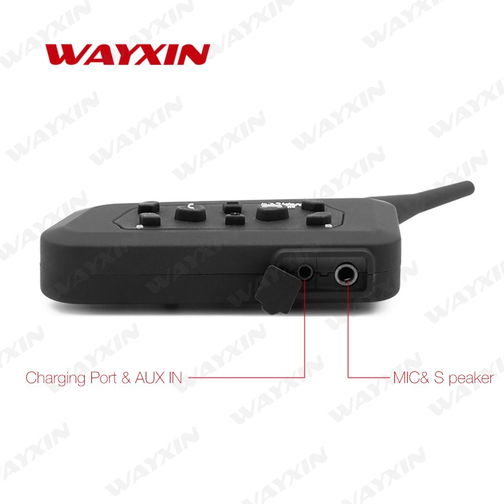 WAYXIN Helmet Headsets intercom universal intercom motorcycle R6 bluetooth mode intercoms motorcycle 4pcs
