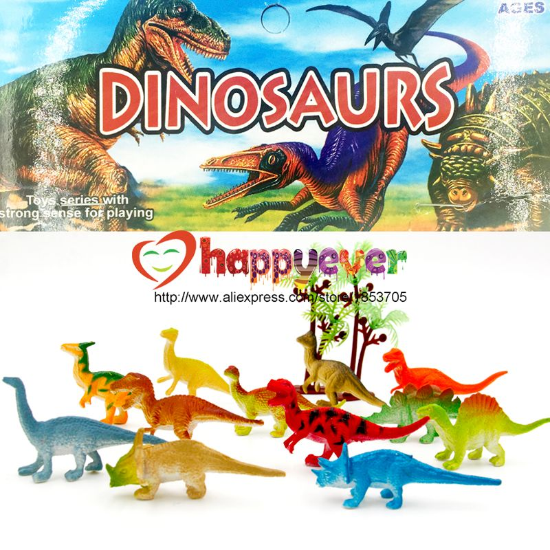 24 Pcs 2 pouce Mini Coloré Jurassic Dinosaure Jouets Enfants Dinosaure Party Favor Décoration Charge Pinata Garçons D'anniversaire Goody Sac