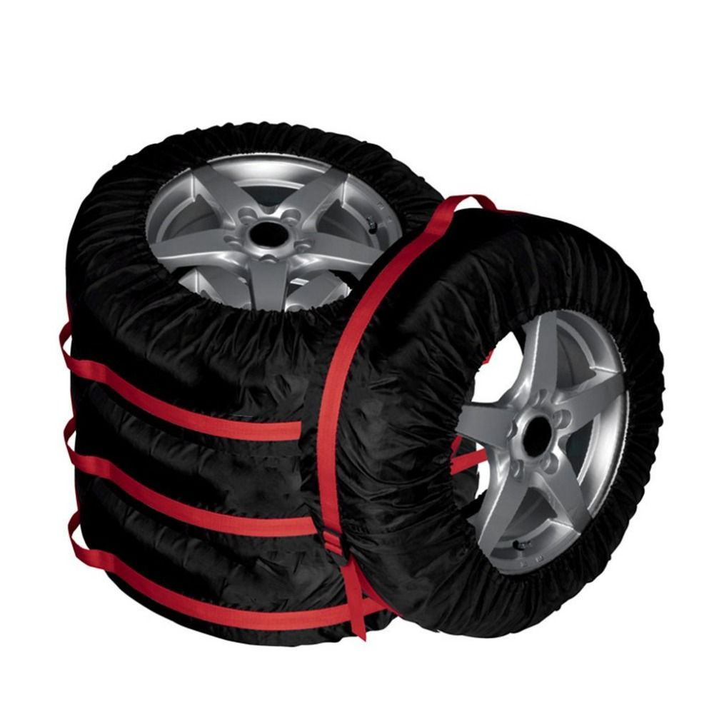 4PCS Spare Tire Cover Durable Vehicle Wheel Protecting Car Tires Storage Bag Portable Automobile Tyre Accessories