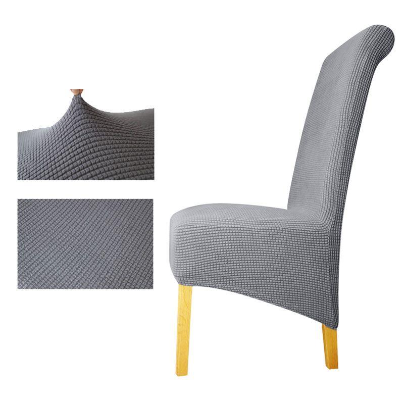 Polar fleece fabric XL Size long back plaid Chair Cover seat covers Chair Covers Restaurant Hotel Party Banquet housse de chaise