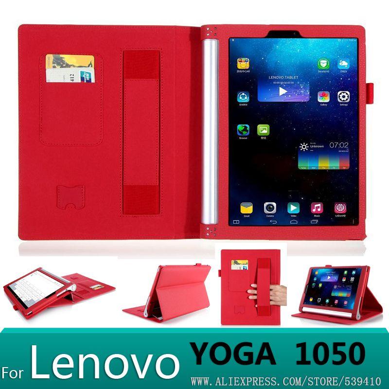 Avec portefeuille Carte De Luxe PU housse en cuir Pour lenovo yoga tablet 2 10 1050F 1050 1051F 1050L 10.1 tablet cas + film
