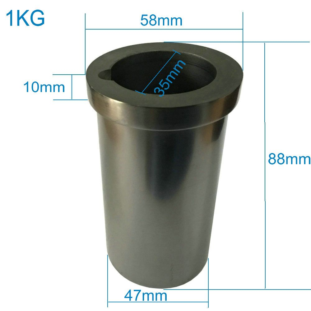 Новый 1 кг Графитовый тигель для плавления металла 99.99% чистоты refractarios тигель графит высокой интенсивности золото плавления принять